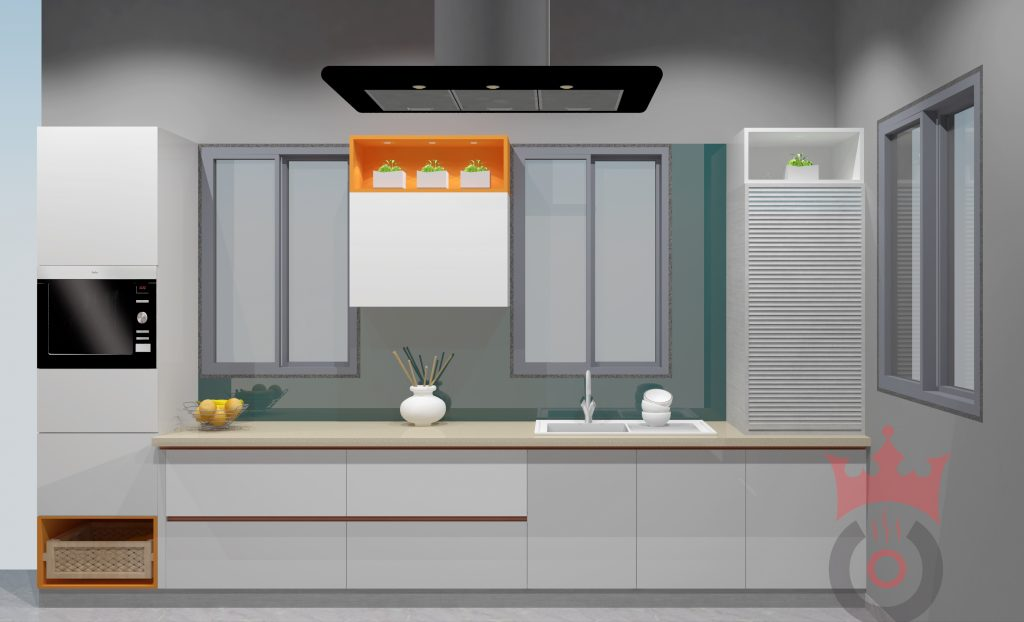 The Pearl - Modular Kitchen - Design By Coronet Kitchens