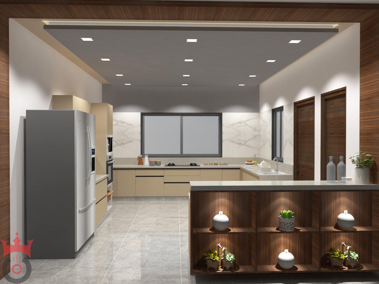 Rich Sandal Modular Kitchens - Design By Coronet Kitchens